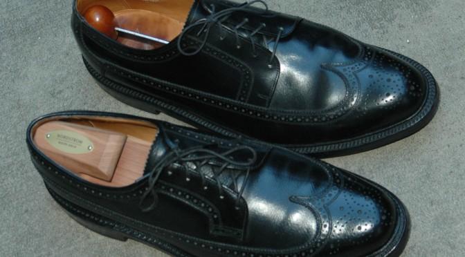 Vintage Black Longwings - Florsheim Imperial 92604 Varsity 20686