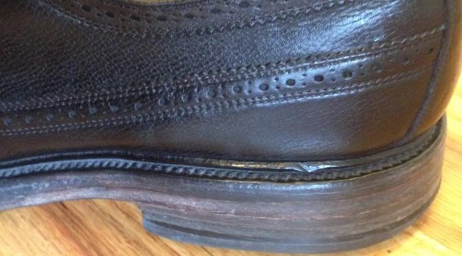Sanded shoe heel