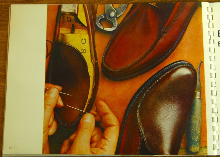Bostonian Shoe Hand Stitching