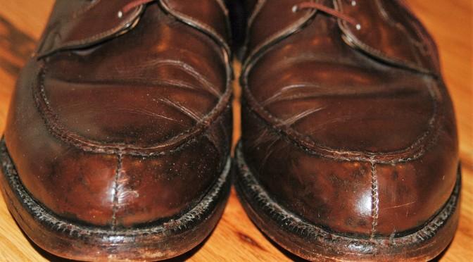 Strip shoe polish