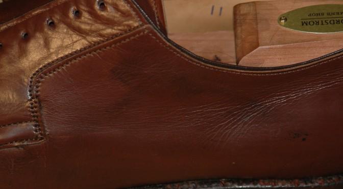 Strip shoe polish wax