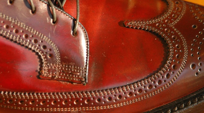 Florsheim Imperial 93605 Shell Cordovan patina Longwing Wingtip Color 4