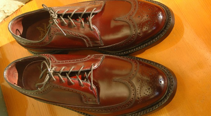 Florsheim Royal Imperial 97626 Shell Cordovan NOS Deadstock Longwing Wingtip
