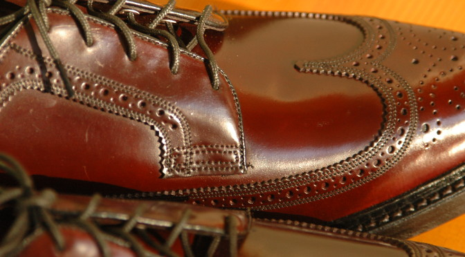 Florsheim Royal Imperial 97626 Shell Cordovan Horween Color 8 Longwing Wingtip