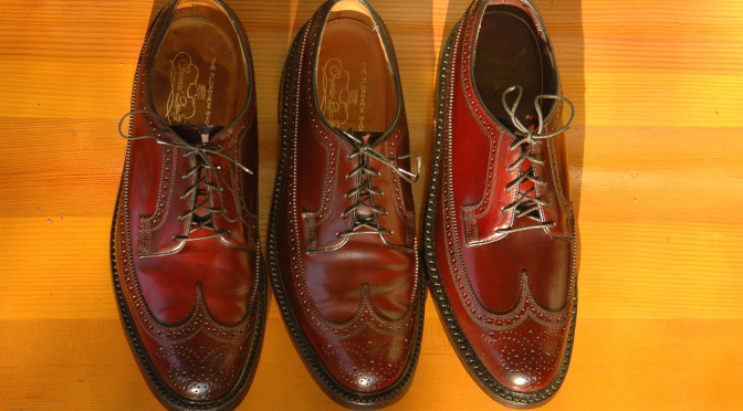Florsheim Imperial 93605 Royal Imperial 97626 Shell Cordovan Horween Color 8 Longwing Wingtip
