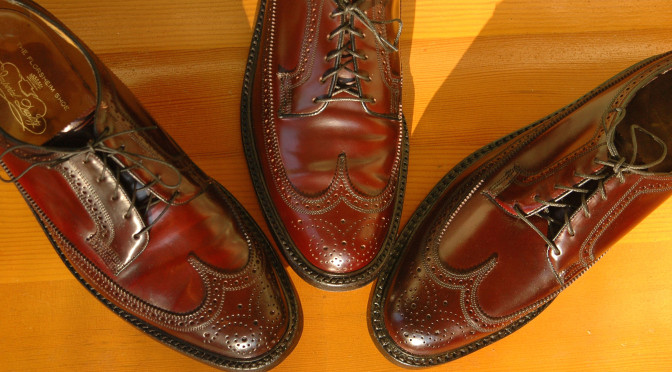 Florsheim Imperial 93605 Royal Imperial 97626 Shell Cordovan Longwing Wingtip Horween Color 8