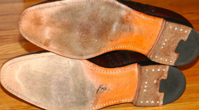 Johnston & Murphy Crown Aristocraft sole and heel