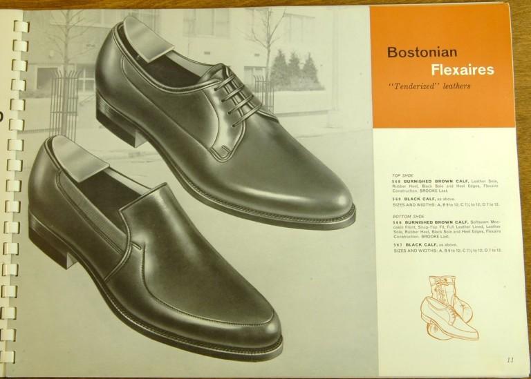 Bostonian Shoe Models 568, 569, 566, 567