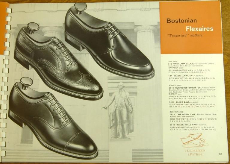 Bostonian Shoe Models 530, 531, 5004, 5013, 5826, 5825