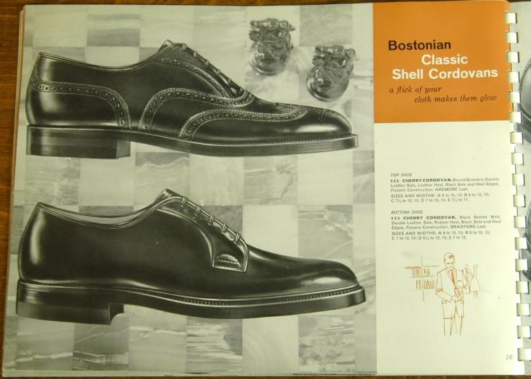 Bostonian Shoe Models 555 553 Shell Cordovan PTB WTB