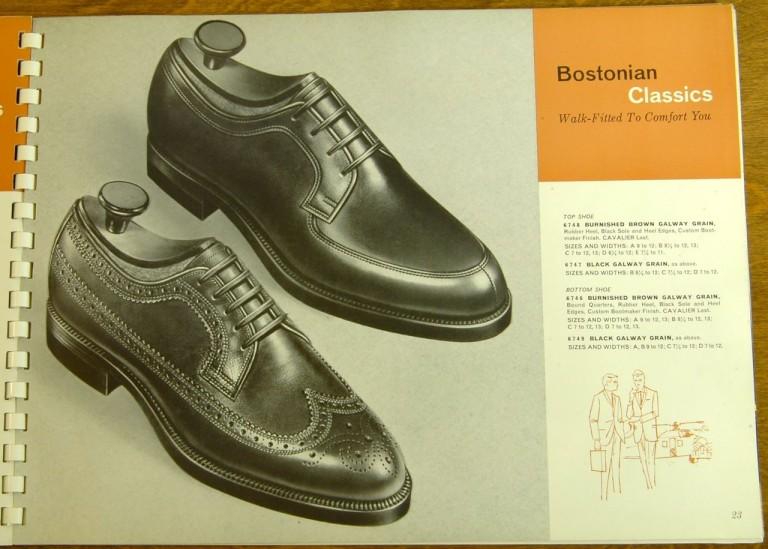 Bostonian Shoe Models 6748 6747 646 6749