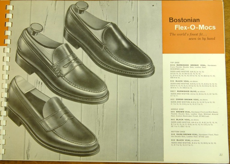 Bostonian Shoe Models 8836 808 8837 832 800 802 868 869