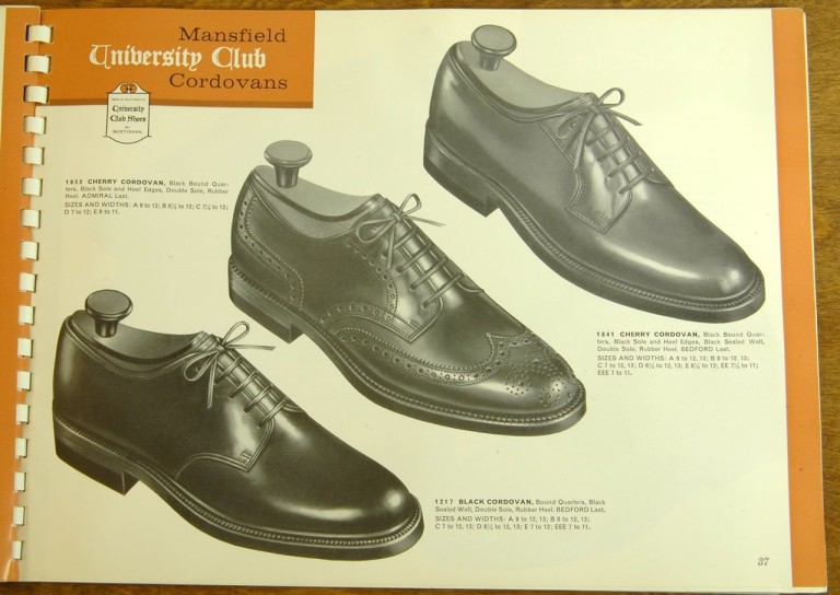 Bostonian Shoe Models 1852 1841 1217 Shell Cordovan PTB Shortwing