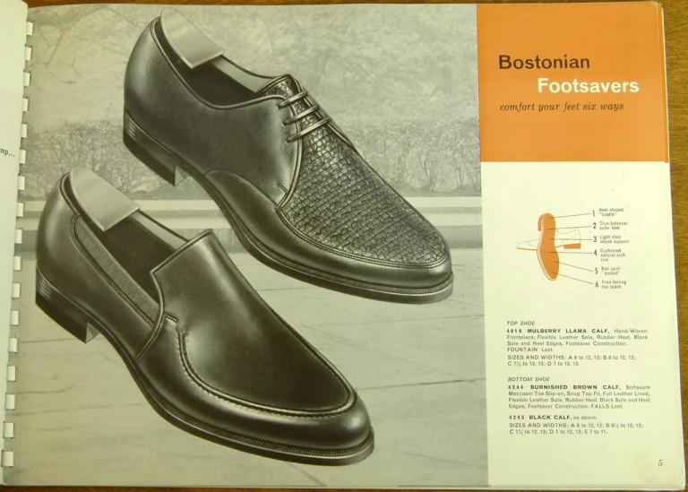 Bostonian Shoe Models 4010, 4244, 4245
