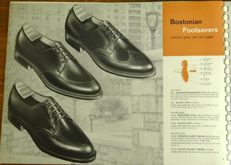 Bostonian Shoe Models 406, 407, 4434, 4435, 4432, 4433