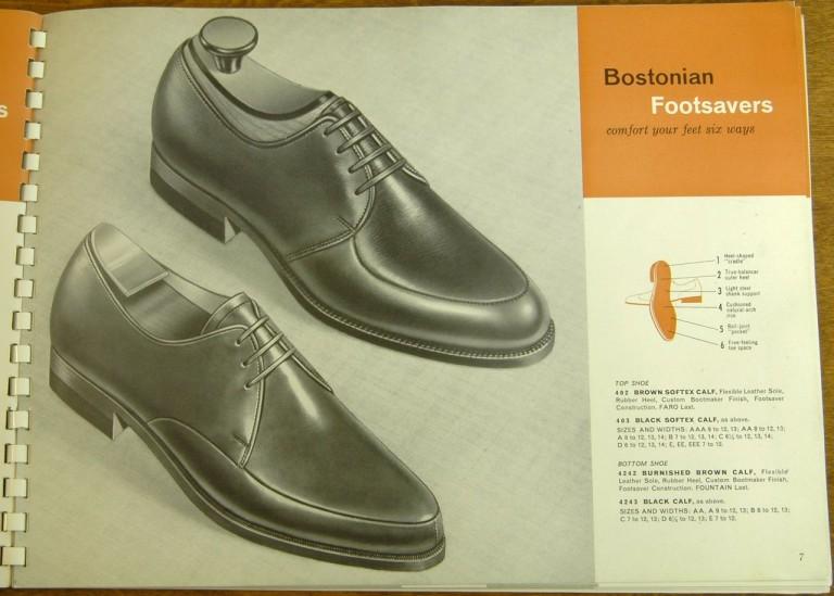 Bostonian Shoe Models 402, 403, 4242, 4243