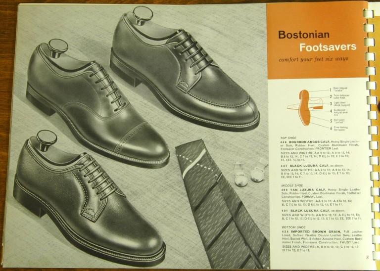 Bostonian Shoe Models 446, 447, 400, 401, 424