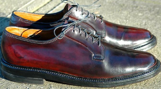 Florsheim Imperial 93606 Plain Toe Blucher patina Lexol