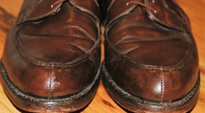 Strip shoe polish