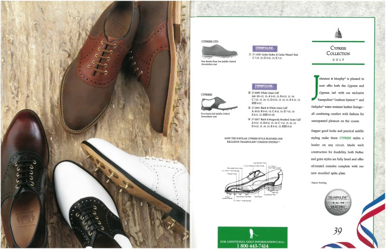 1992 Johnston & Murphy Golf Shoes