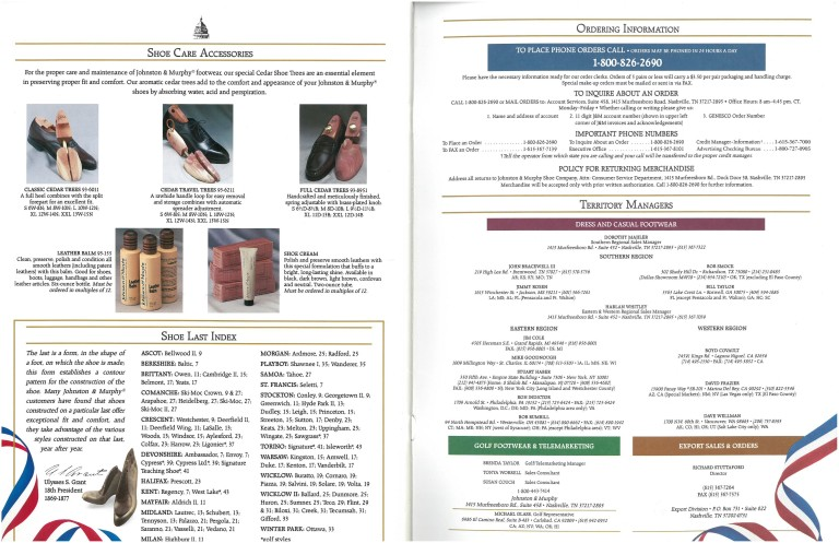 1992 Johnston & Murphy Catalog