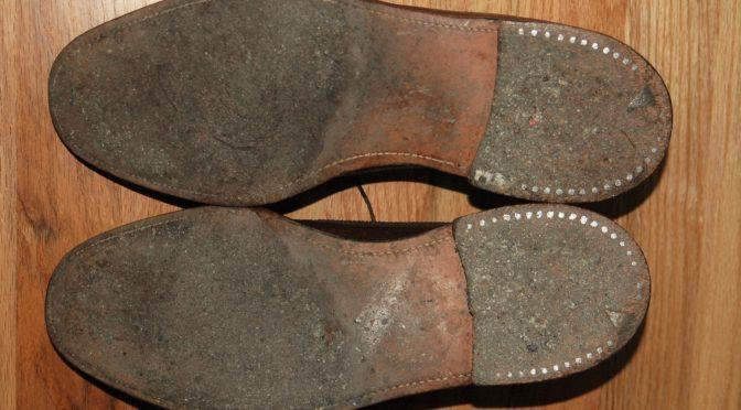 Vintage leather soles