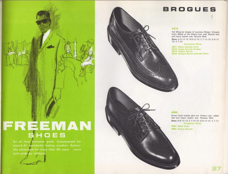 1965 Freeman Shoe Catalog