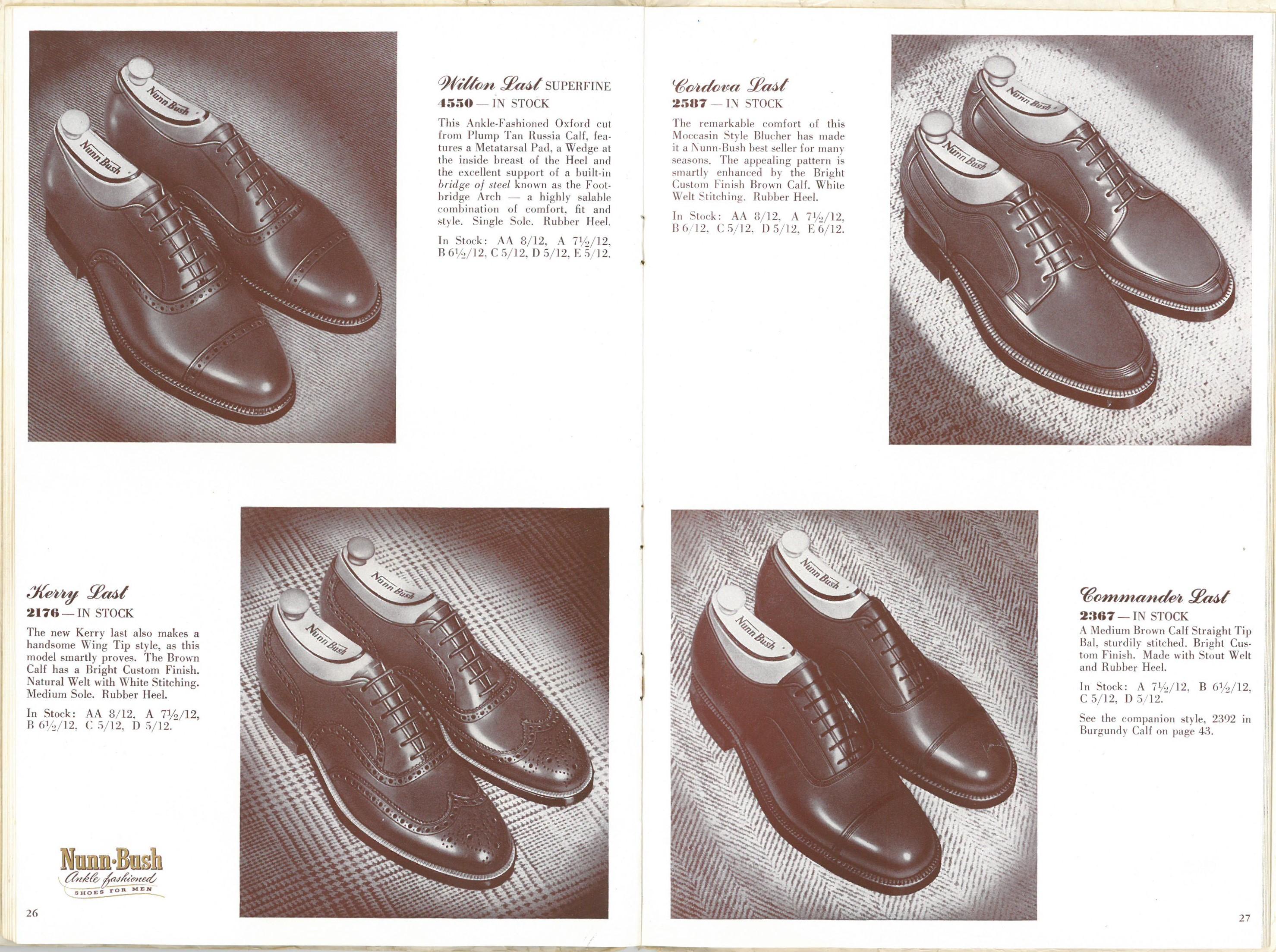 1954 Nunn Bush Catalog