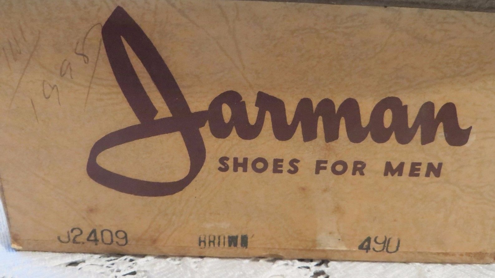 Pair of Jarman 490 or 9 D shoes