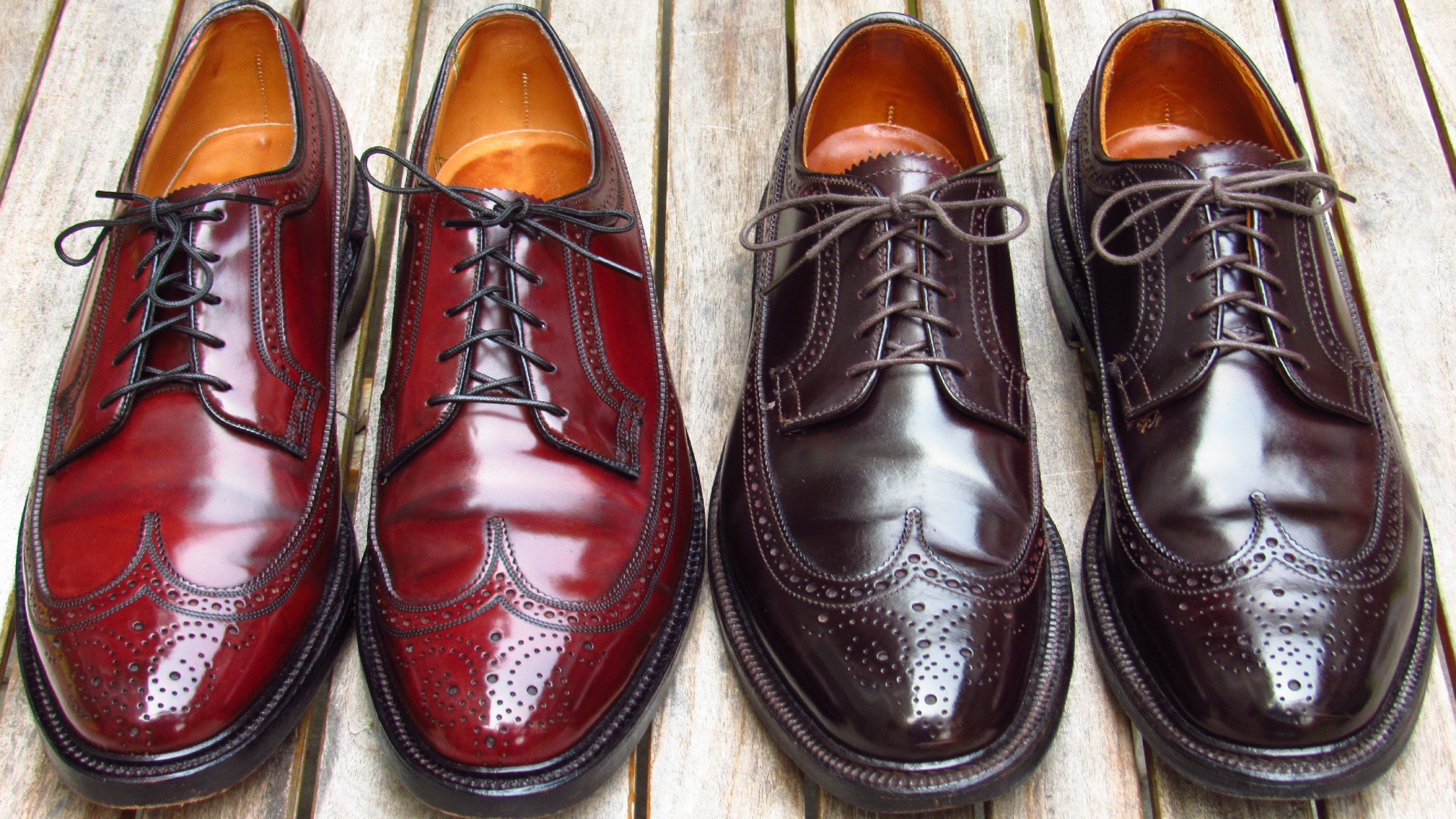 Shell cordovan long wing smackdown vcleat for The alden