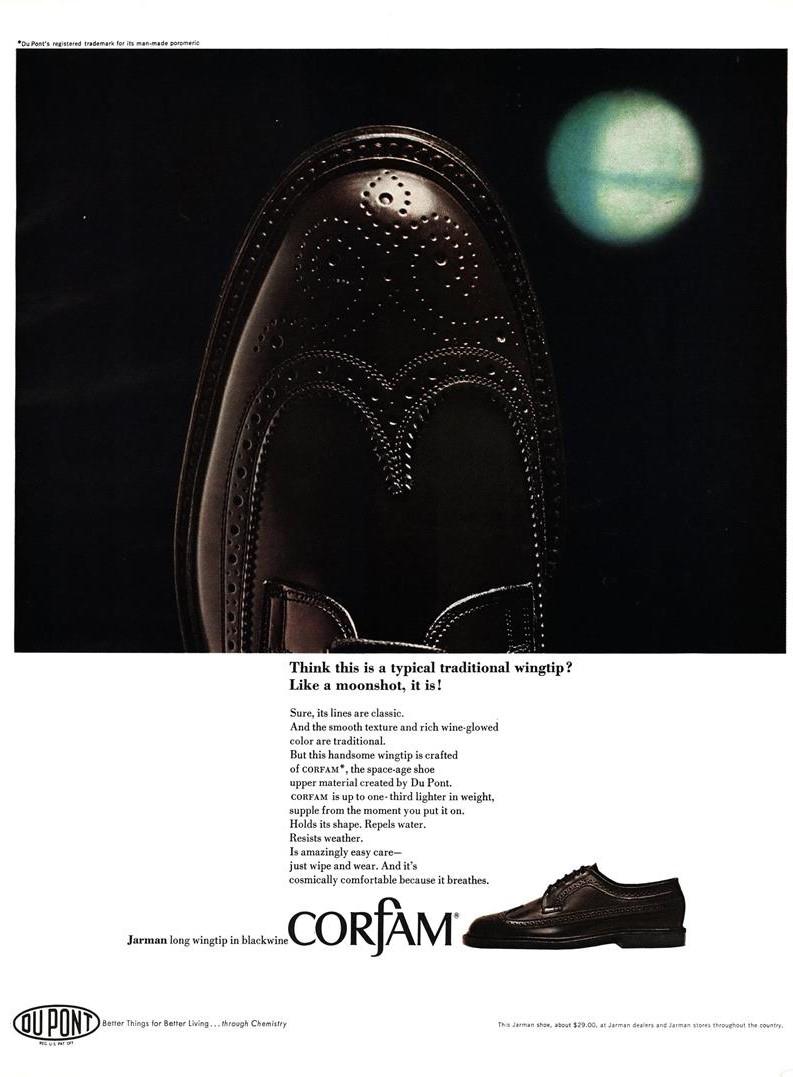 1966 Du Pont Corfam Ad