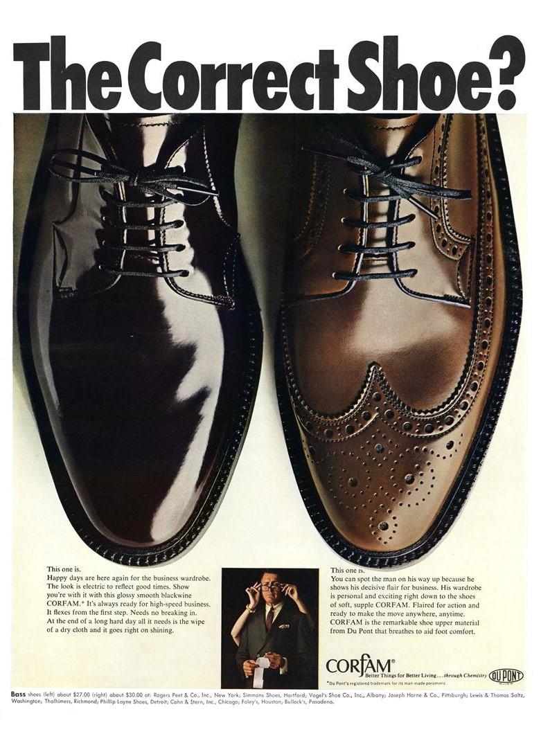 1967 DuPont Corfam Ad