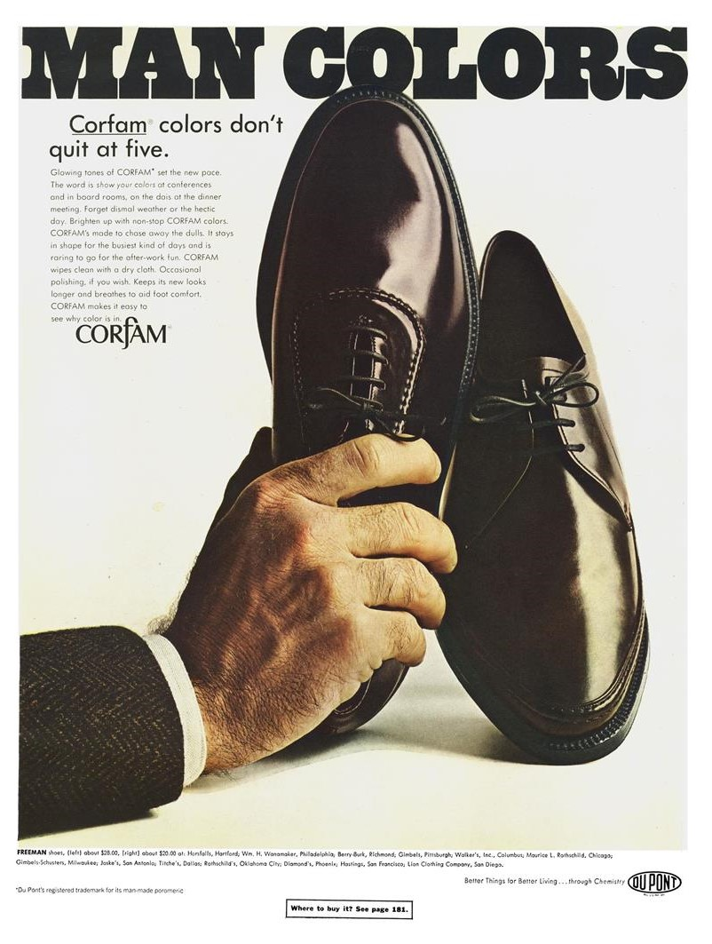 1967 Corfam shoes
