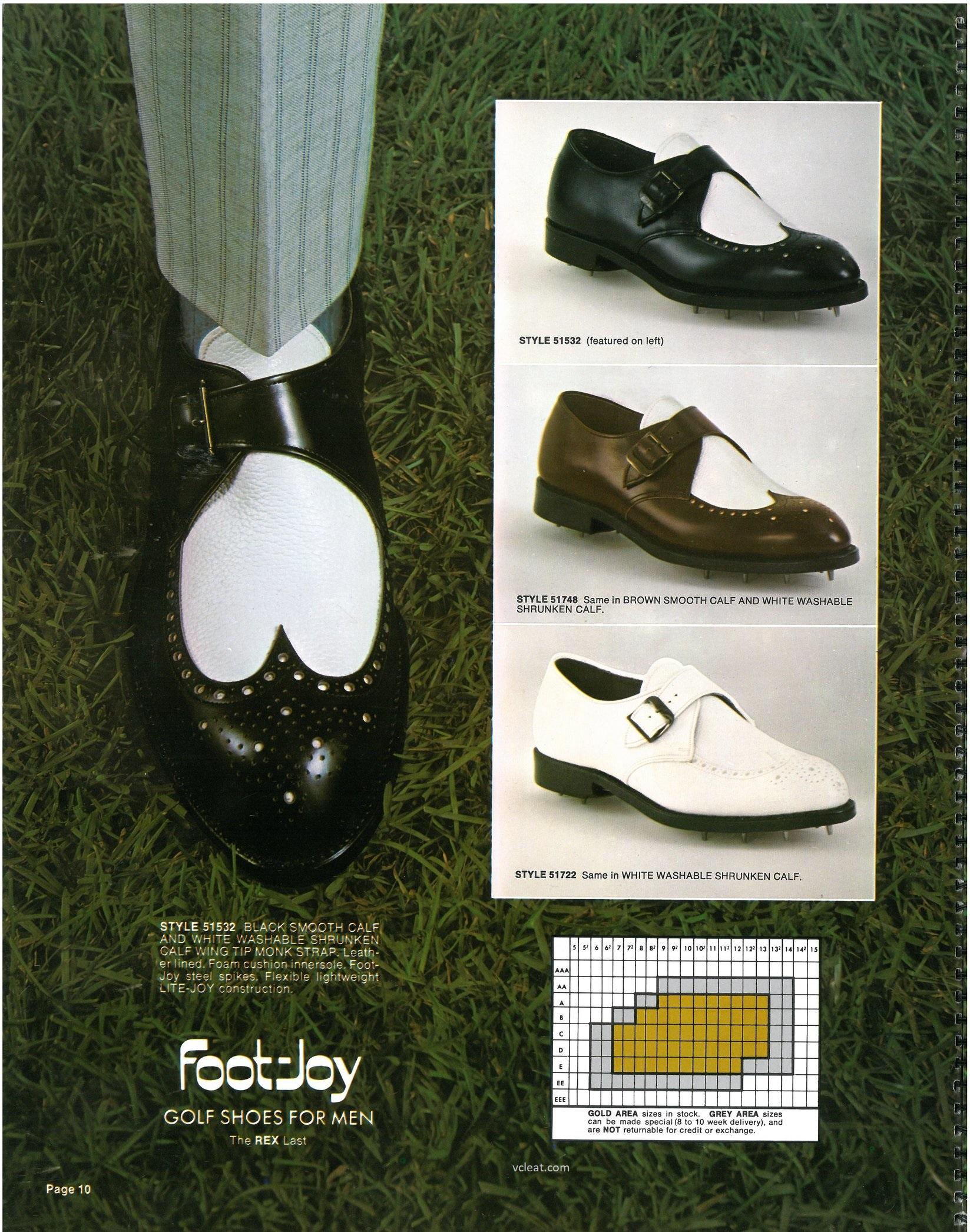 Vintage FootJoy Golf 51532 51748 51722