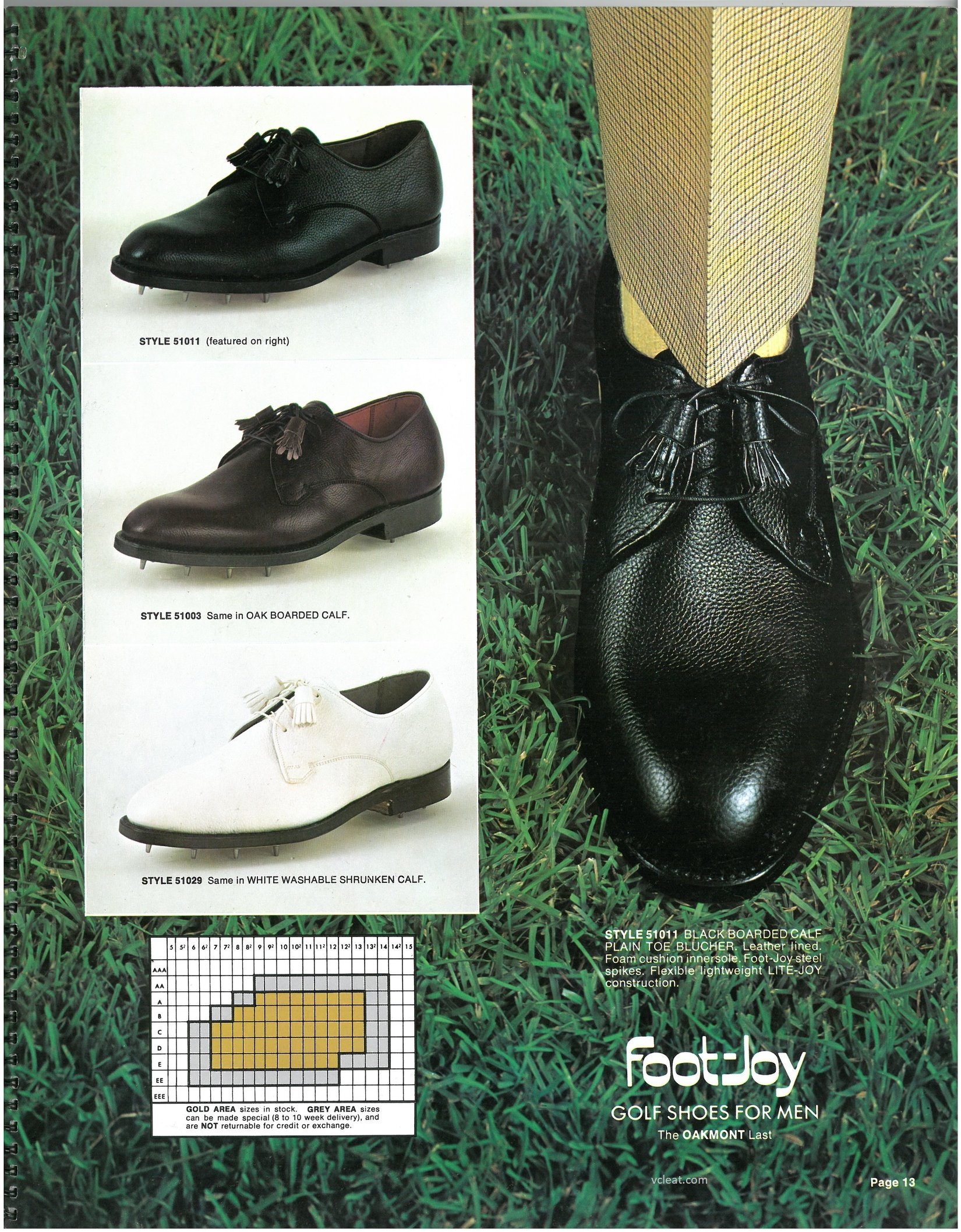 FootJoy Made in USA 51011 51003 51029