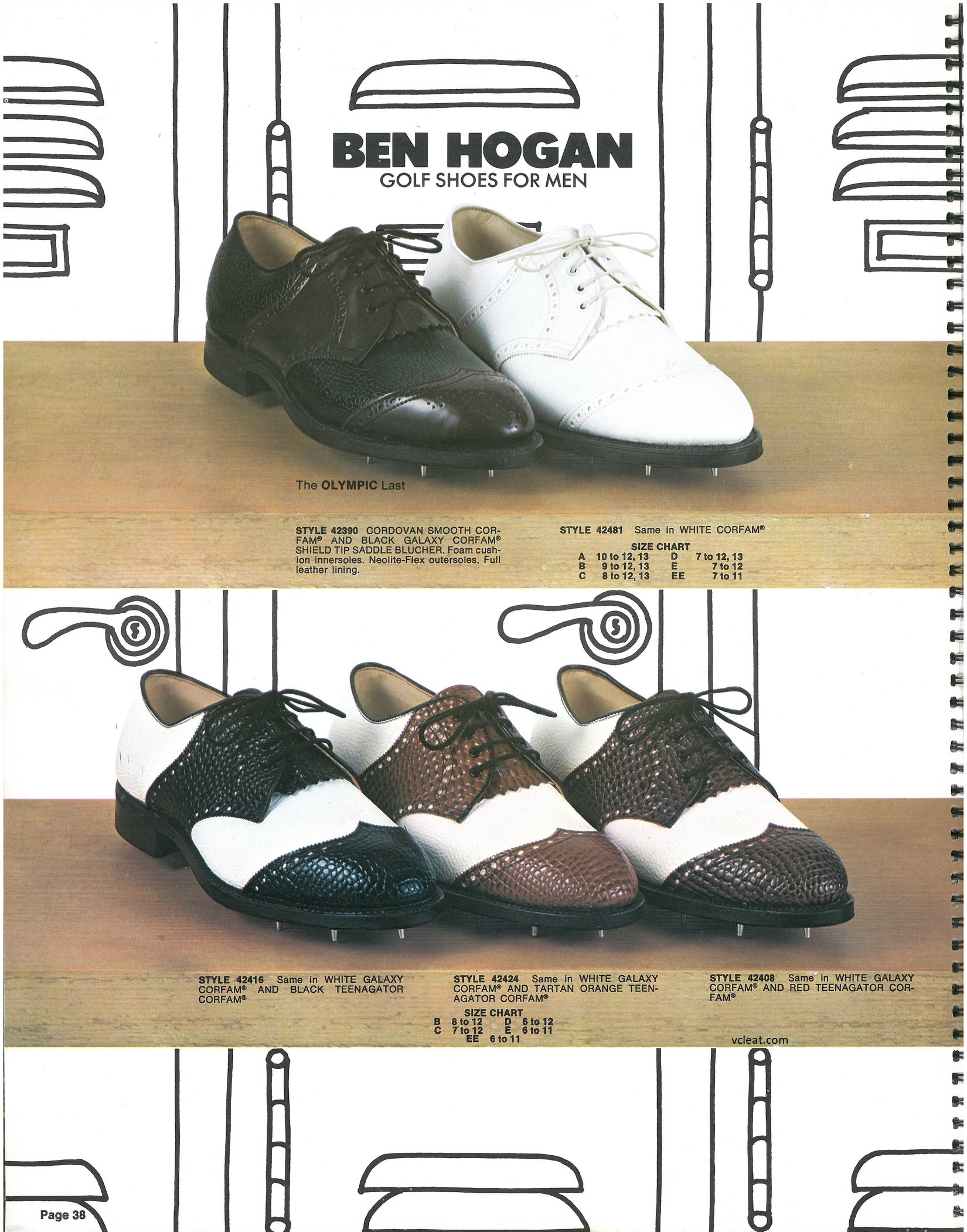 Vintage FootJoy Ben Hogan Golf Shoes