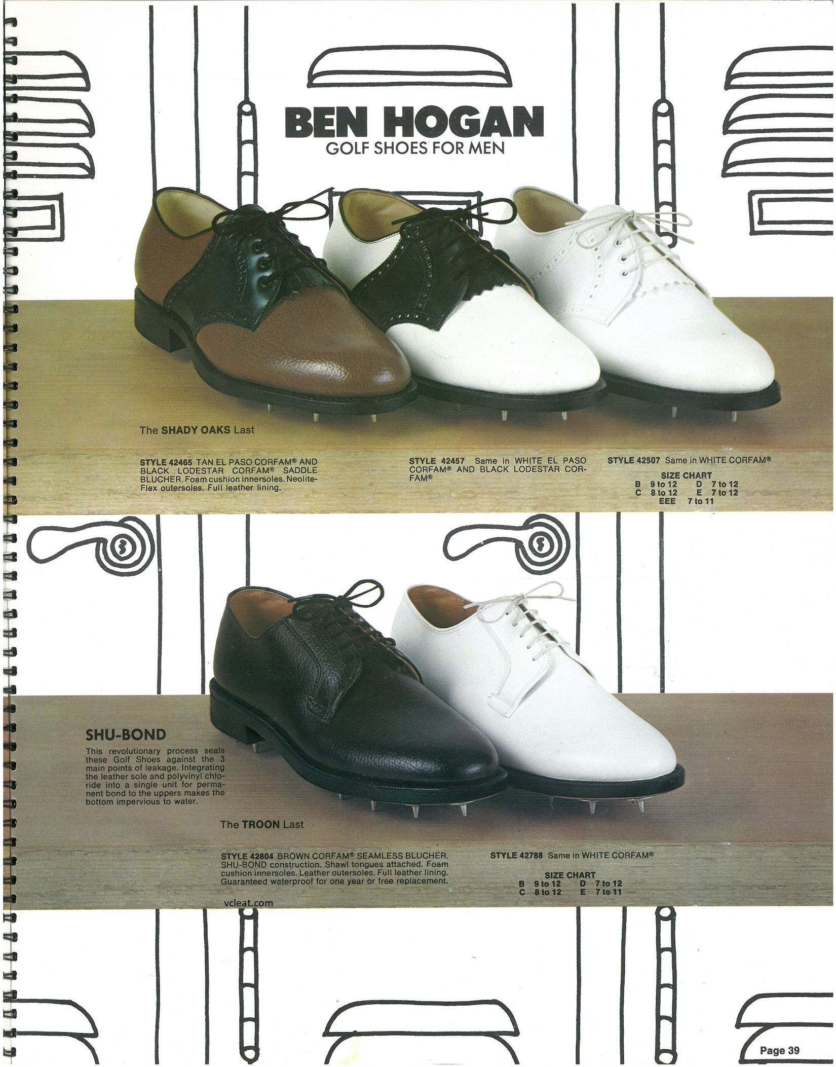 Old School FootJoy Ben Hogan Golf Shoes
