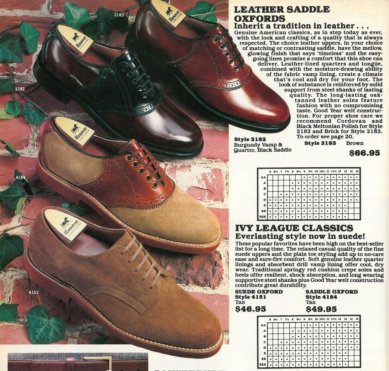 1983 Hanover Shoe Catalog